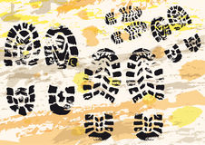 Shoe's imprints Royalty Free Stock Image