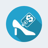 Shoe sale icon Royalty Free Stock Images