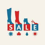 Shoe Sale Royalty Free Stock Image
