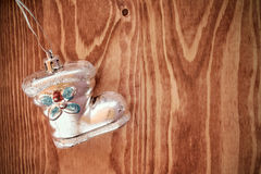 Shoe shaped christmas bauble Stock Photography