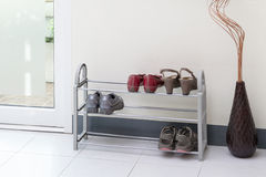Shoe shelf Stock Photography