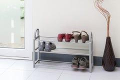 Shoe shelf Stock Photography