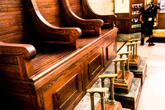 Shoe Shine bank at Hoboken Station, New Jersey Royalty Free Stock Images