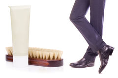 Shoe Shine Stock Image