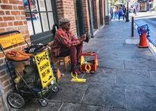 Shoe Shine in New Orleans Royalty Free Stock Images