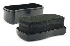 Shoe shine sponge Stock Photo