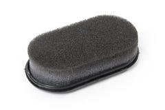 Shoe shine sponge. Isolated on white background Stock Image