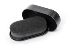 Shoe shine sponge. Isolated on white background Stock Images