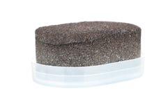 Shoe shine sponge. Over a white background Stock Image
