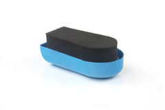 Shoe shine sponge with Shoe Royalty Free Stock Images