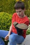 Shoe shine Stock Image