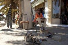 Shoe shine workers, Ethiopia Stock Photos