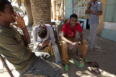 Shoe Shiners, Ethiopia Stock Photo
