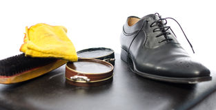 Shoe shining equipment Stock Image