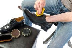 Shoe shining Royalty Free Stock Photography