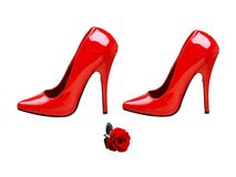 Shoe. S fashionable women. Model trend Royalty Free Stock Images