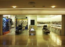Shoe shop. Interior of the footwear shop stock photos
