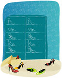 Shoe shop. Vector hand drawn style illustration of shoe shop Royalty Free Stock Image