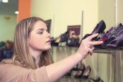 In shoe shop Stock Photos
