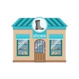 Shoe Shop Commercial Building Facade Design Royalty Free Stock Images