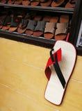 Shoe shop display Stock Photos
