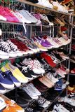 Shoe shop in market. Shoe shop secondhand in market Stock Image