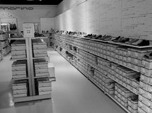 Shoe shop. Modern shoe shop in the newly opened Valmontone commercial centre, Italy Royalty Free Stock Photos