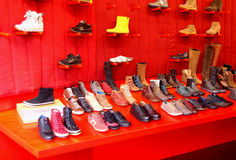 Shoe shop. Modern shoe shop in Rome, italy stock photography