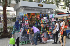 Shoe shop in Pratunam Platinum Shopping Mall Stock Photo