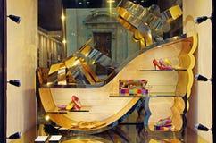 Shoe Shop. Showcase of women's shoe shop in Florence, Italy Royalty Free Stock Photo