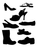 Shoe Silhouettes Stock Images