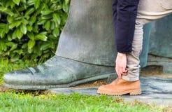 Shoe size Stock Photo