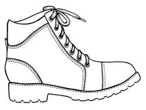 Shoe sketch icon Stock Image