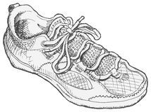 Shoe Sketch Stock Images