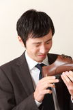 Shoe smell Royalty Free Stock Image
