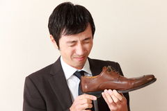 Shoe smell Stock Image