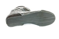 Shoe sole, silver sports footwear Royalty Free Stock Photos