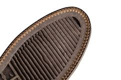 Shoe sole with a strong pattern stock images