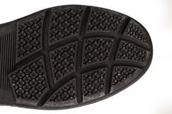 Shoe sole with a strong pattern royalty free stock photos