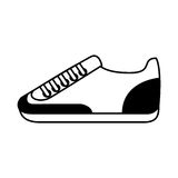 Shoe sport isolated icon Royalty Free Stock Images