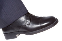 Shoe stepping Stock Photography