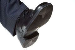 Shoe stepping Royalty Free Stock Photo