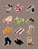 Shoe stickers. Cartoon vector  illustration Royalty Free Stock Image