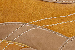 Shoe stitching. High macro of the stitching on a leather shoe Stock Images