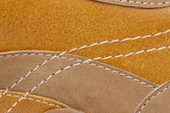 Shoe stitching Stock Images