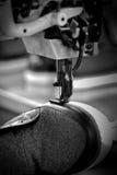 Shoe stitching machine Royalty Free Stock Image