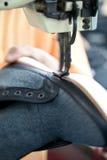 Shoe stitching operation Stock Image