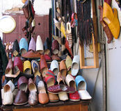 Shoe store. With arab shoes Royalty Free Stock Images