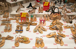 Shoe store in Athens. Greece. Stock Photos