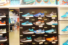 The shoe store display shoes Royalty Free Stock Image